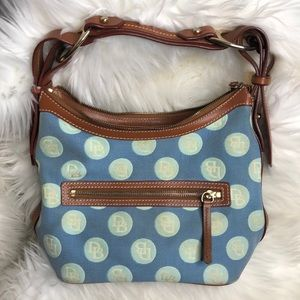 Rooney & Bourke Monogram Polka Dot Purse
